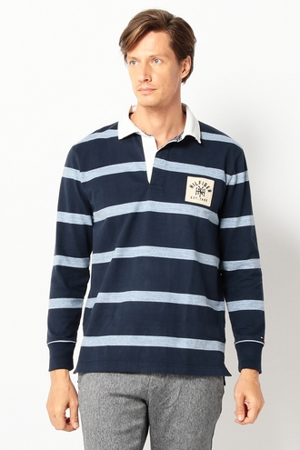 LONG SLEEVE STRIPE RUGBY-SHIRT