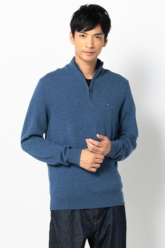 LAMBSWOOL KNIT ZIP PULLOVER