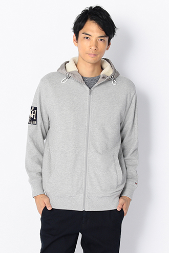 COTTON HOODED ZIP PARKA