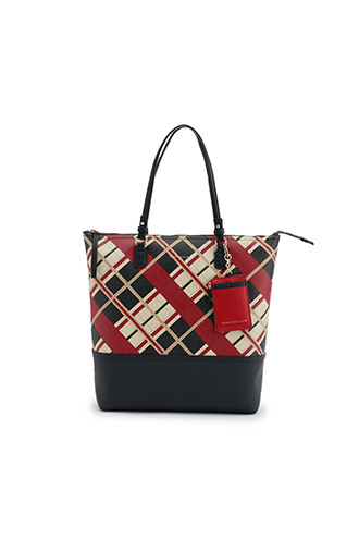 LOVE TOMMY INT CHECK TOTE
