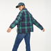 Plaid Crest Puffer Jacket