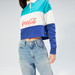 Coca-Cola Cropped Fit Rugby Shirt