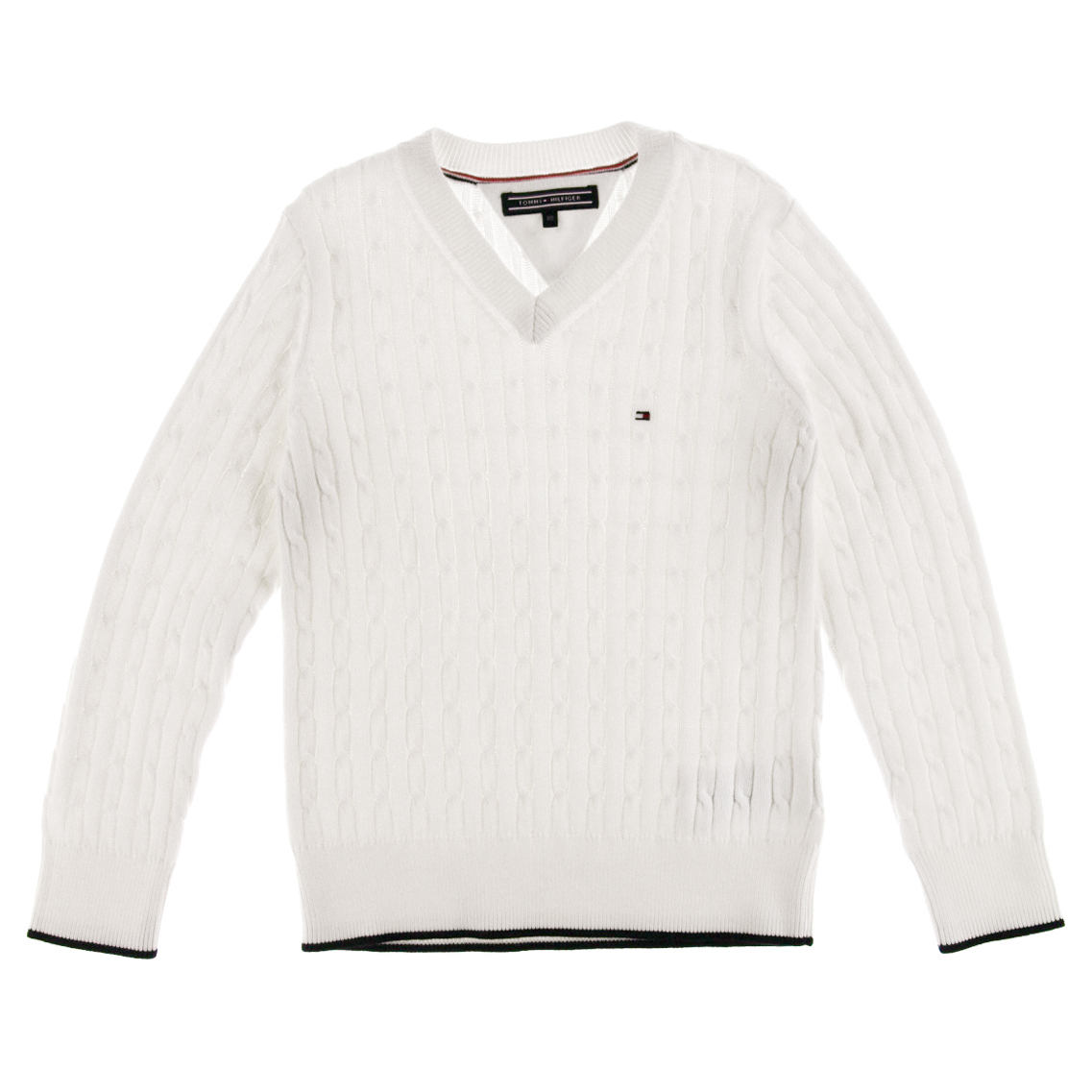 JAPAN BOYS V-NECK CABLE SWEATER