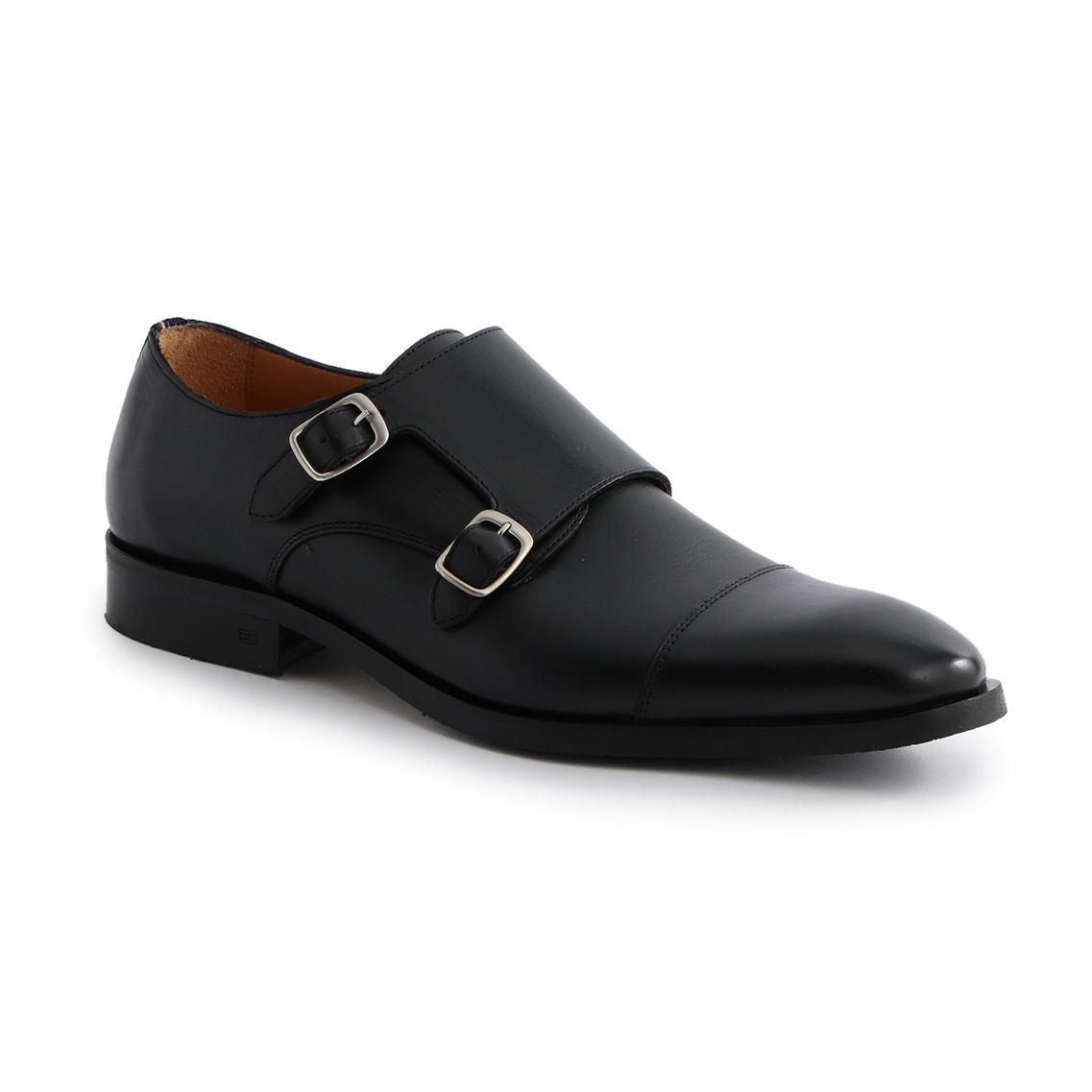 LEATHER DOUBLE MONC SHOES