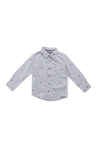 BASEBALL EMBROIDERED SHIRT L/S