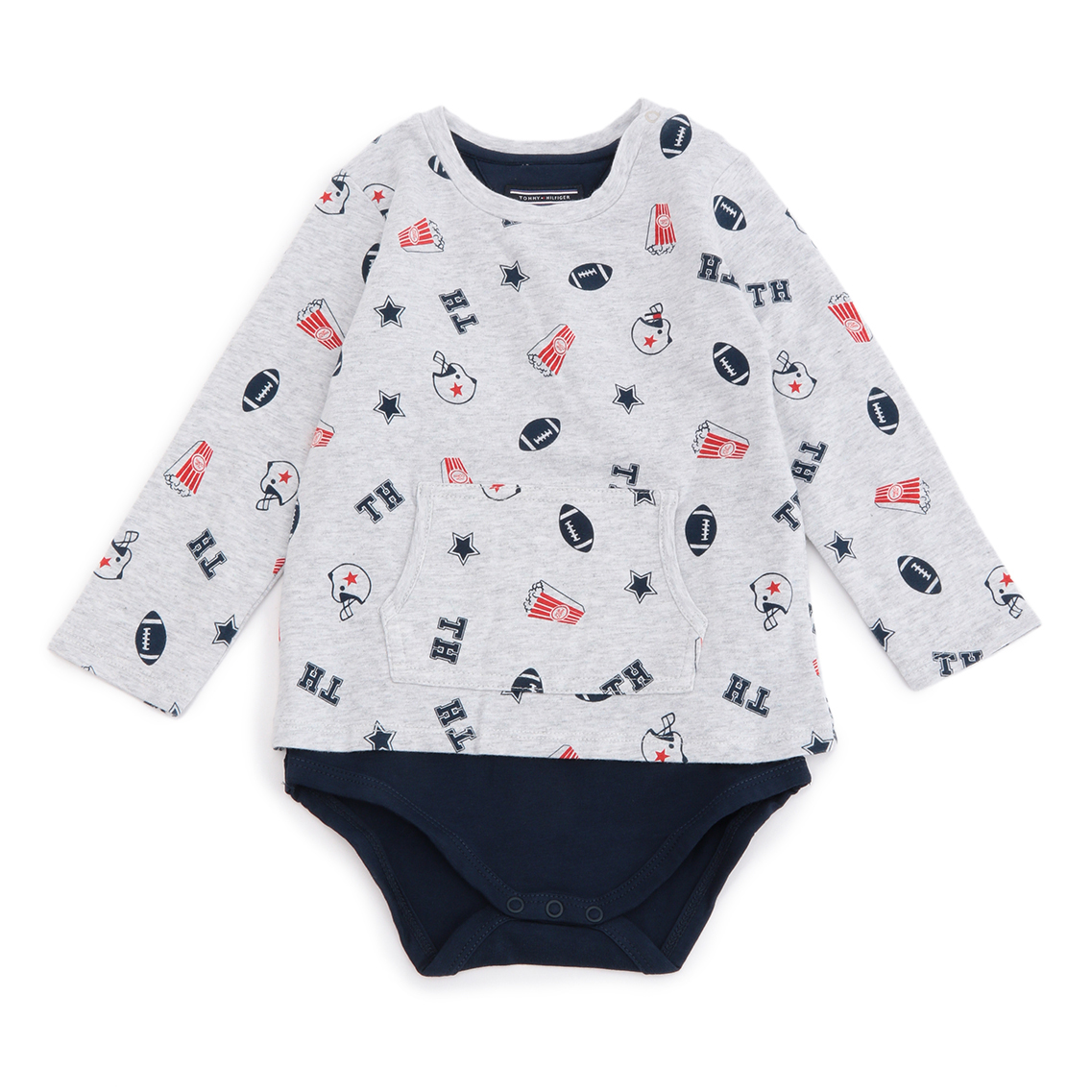 ALL-OVER BABY BOY TEE BODY L/S