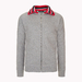Stripe Collar Fleece Sweatshirt