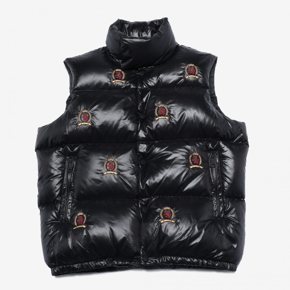 HC ALLOVER EMBROIDERY DOWN VEST
