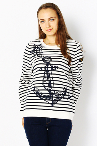 ANCHOR PRINT PULLOVER