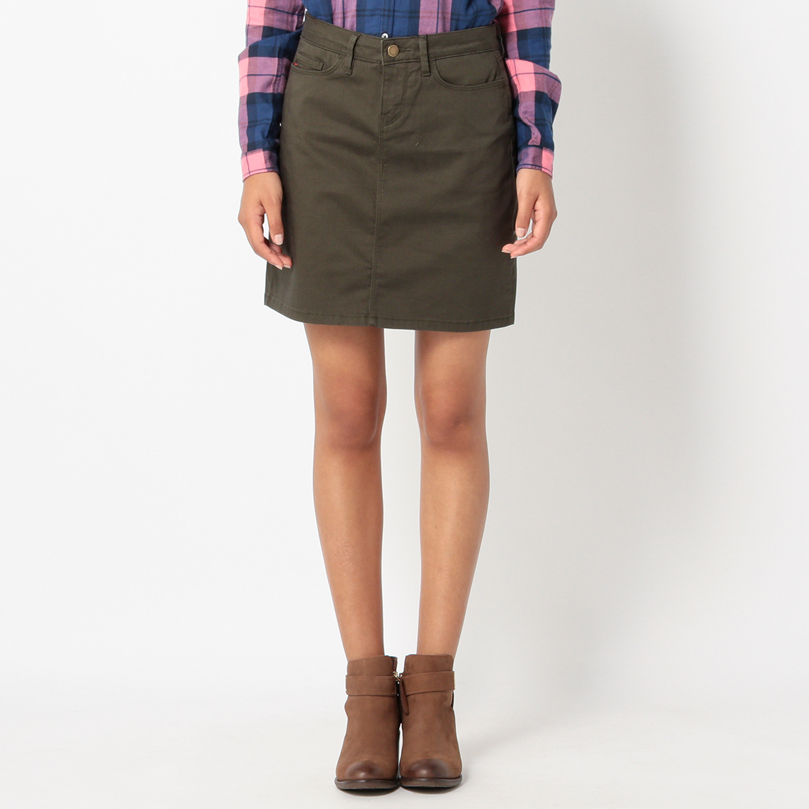 COTTON SATEEN 5 PKT SKIRT