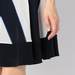 SILK GEOMETRIC STRIPE SKIRT