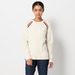 CABLE TIPPING KNIT PULLOVER