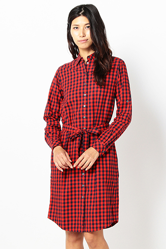 HEAVY BRUSHED COTTON FLANNEL SHIRT ONE PIECE