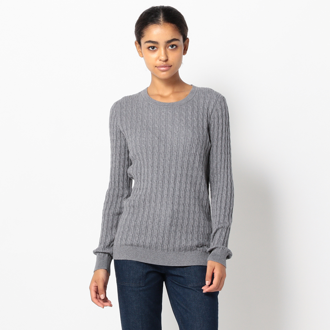 CLASSIC CABLE CREW-NECK PULLOVER