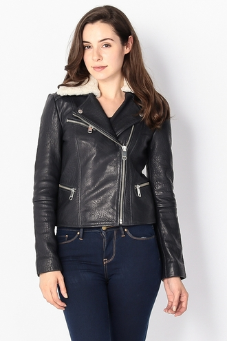 LEATHER BIKER BLOUSON