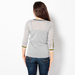 WOOL TIPPING OPEN-NECK SWEATER