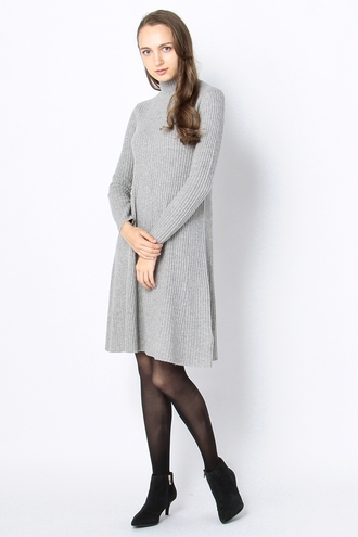 RIB HIGH-NECK KNIT ONE PIECE
