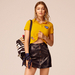 Cotton Pique Cropped Polo Gigi Hadid