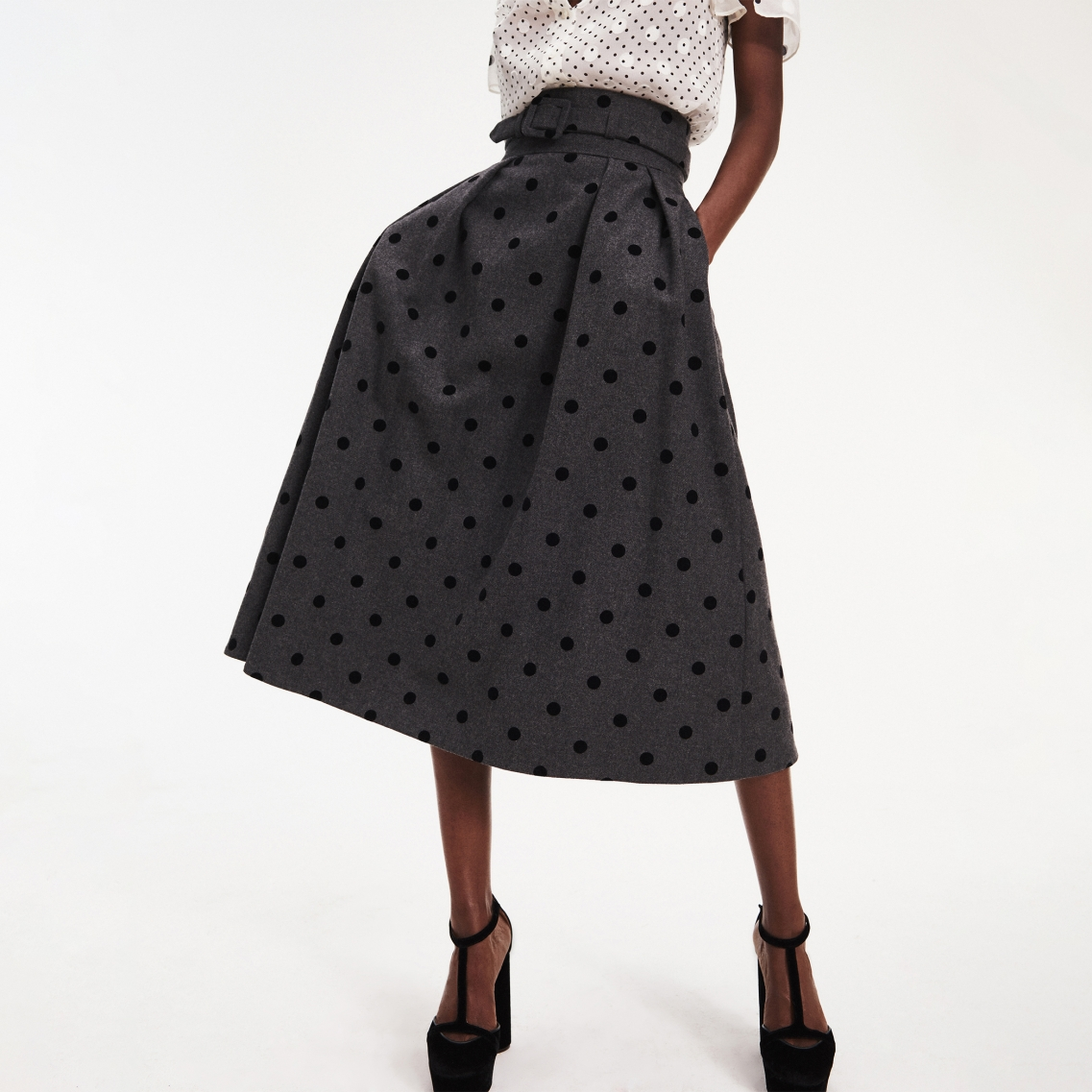 ZENDAYA POLKA DOT SKIRT